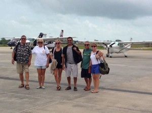 The group at Belize City, Mark and Pris are behind the camera.