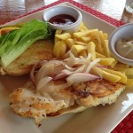 Reef Burger of red snapper